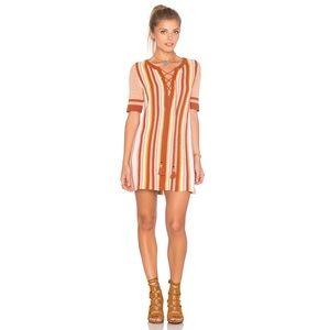 Free People Lollipop Sweater Dress Sunset Combo S